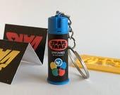 SPARVARS Miniature 80's Style Aerosol Key Chain (Star Wars Sparvar Spar Vars graffiti streetart stencil fanart 3D printed spraycan)