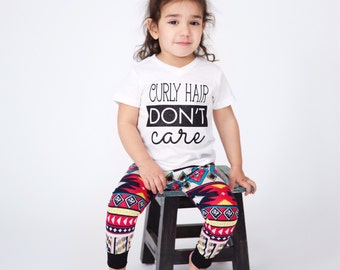 curly hair dont care tshirt, curly hair shirt, curly hair, messy hair, dont care tee, funny shirt, toddler tshirt, kids shirt, trendy shirt