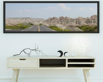 Pressure of Badlands in South Dakota, United States - panoramic photography - unframed
