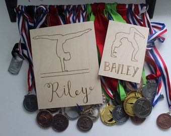 Gymnast Wood Plaque - Personalized