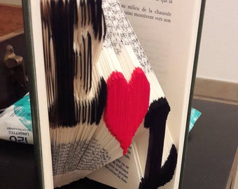 My Valentine - book folded colorized