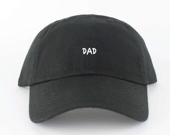DAD Hat - Black Embroidered Dad Hat - Polo Hat - Curved Brim Six Panel Fabric Strap Hat - Dad Hat Lol Funny - Brand New