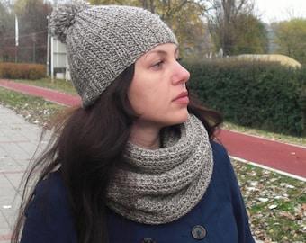 Scarf and hat Scarf and hat set Knit scarf Knit hat Hand knit set
