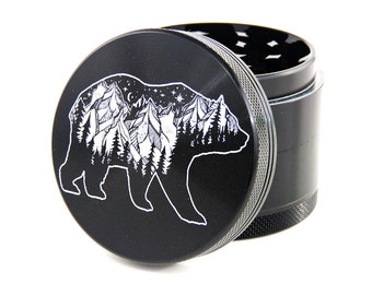 "Herb Grinder - Rocky mountain bear - 2.2"" - Greenhouse grind"