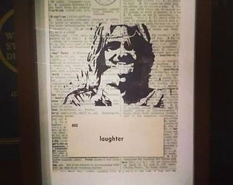 Mitch Hedberg Block Print