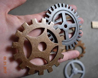 MASSIVE Large Steampunk Gears. Steam Punk Huge Gears Custom Craft 3D Printed Hand Painted Giant Gears Diameter Big Cogs & Sprockets