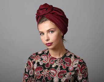 turban, turban hat, women's turban, head turban, turban head wrap, ladies turban, fashion turban, hair turban, turban fashion, red turban