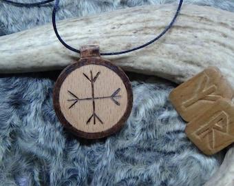 Runes jewelry runes pendant elder futhark witch jewelry witchcraft Runic amulet Algiz helm of awe ritual wicca wiccan jewelry