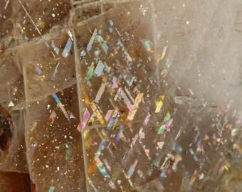 2.7cm RAINBOW LATTICE SUNSTONE from Australia - Rare Crystal, Sunstone Jewelry Making, Sunstone Cabochon, Sunstone Moonstone 36467