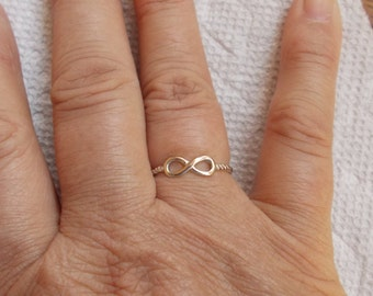 Sterling Silver Infinity Ring, .925