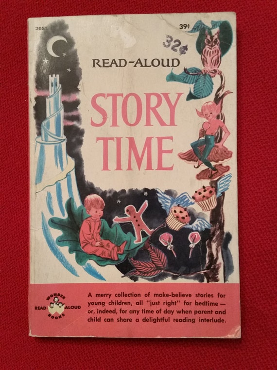Read-Aloud Story Time | 1965 Children's Book | 18 Bedtime Stories with Illustrations | Child's Paperback by Mabel Watts / Wonder Books