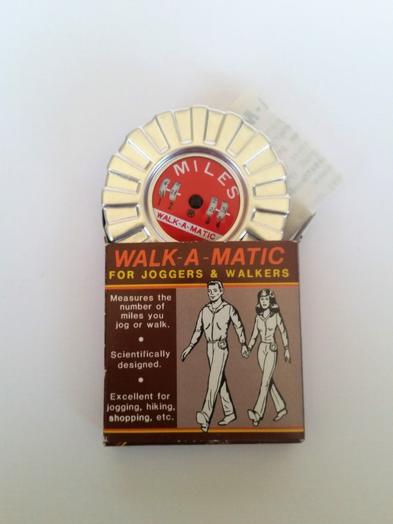 Walk-a-Matic 1980's Pedometer with Box | Vintage Fitness Gear for Joggers & Walkers | Retro Eighties Fitness Collectable