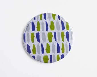 Pocket Mirror, Round Mirror, Makeup Bag, Gifts for her, Contemporary Watercolour Pattern
