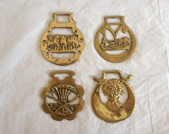 Horse Tack Harness Brass Medallions Agriculture Theme