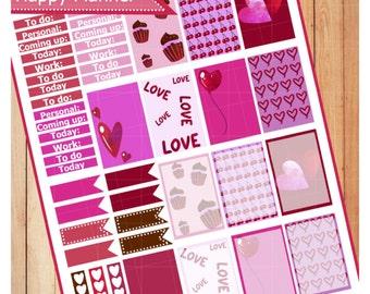Valentines Day Happy Planner Stickers (MAMBI)
