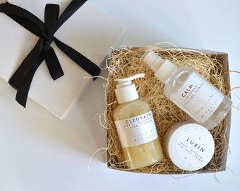Gentle Skin Care Gift Set, Moisturizer, Toner, Facial Cleanser