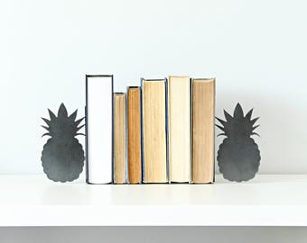 Pineapple Bookend  |  modern rustic tropical decor