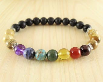 Seven chakra jewelry mens chakra bracelet seven chakras yoga bracelet yoga inspired jewelry 7 chakra balancing bracelet inspiration bracelet