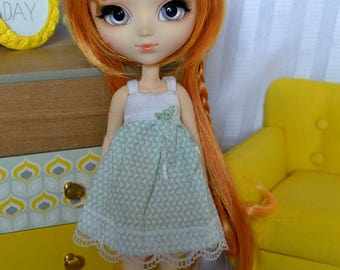 Dress Turquoise - Turquoise Dress (for Pullip Obitsu 27 cm S, Pure Neemo M and similar Dolls)