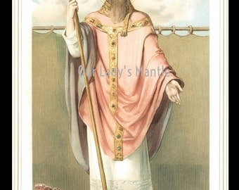 Original 1911 St. Anthony of Padua Color Print