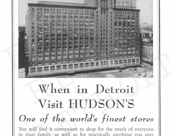 Vintage J. L. Hudson Department Store of Detroit - Vintage Ad from 1947 Print - Michigan State Fair