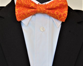 Orange Bow Tie, Orange Bowtie, Mens Bow Tie, Mens Bowtie, Wedding, Bridal, Bride, Fathers Day, Birthday, Contemporary, Dad, Gift, Fun, For