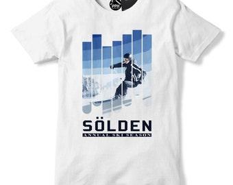 Solden Annual Ski Season T Shirt Skiing Top Goggles Austria Apres Tshirt 489