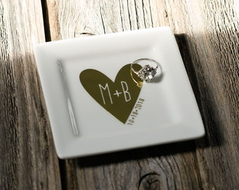 Ring Dish | You + Me - Jewelry Dish, Engagement Gifts, Wedding Gifts, Anniversary Gifts, Keepsakes