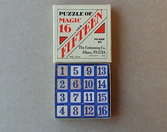 1930s Puzzle of Magic 16 and 15