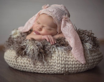 Newborn basket props/ Baby basket/ Newborn photo props/ Baby props/ Baby photography props/ Photo props/ Christmas photo props/ basket
