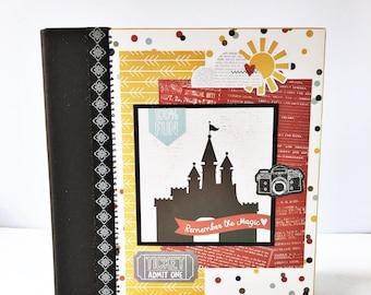 Disney Premade Scrapbook Album, Disney Scrapbook, Disney Mini Album, Travel Scrapbook, Vacation Scrapbook, Family Scrapbook, Disney Vacation