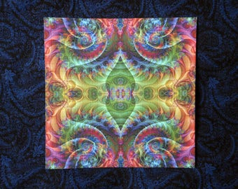"Blotter Art ""Fractalization"" Perforated Print Collection Paper Psychedelic Acid Art"
