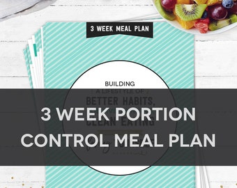 3 Week Portion Control Meal Plan
