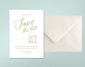 Wedding save-the-date cards, minimalist, modern, classy, graphic design, typography, calligraphy