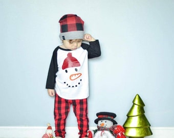 Snowman Shirt, Boys Snowman Shirt, Christmas Shirt, Boy Christmas Shirt, Snowman Tee, Snowman Christmas Shirt, Holiday Shirt, Boy Shirt