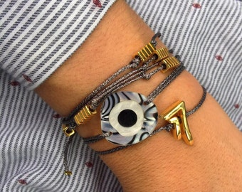 Evil Eye Charm,  Evil Eye Bracelet, Evil Eye Jewelry, Women's Jewelry, Made in Greece by Christina Christi Jewels.