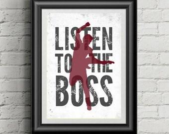 BRUCE SPRINGSTEEN Inspired 11x14 Poster Print | Listen To The Boss | Wall Art | Home Decor