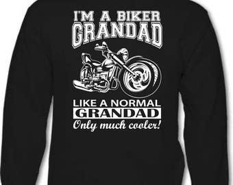 I'm A Biker Grandad - Mens Funny Motorbike Hoodie Father's Day
