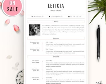 Creative Resume Template - Professional CV Template - Lebenslauf - for Microsoft Word (US Letter and A4) - Instant Download