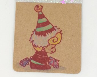 carved stamps handmade stamp (IMP 3) decorate with Christmas Elf fairy stamp gifts/labels,