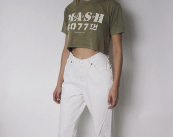 Vintage Levi's 501 Denim Jeans 25.5 | Levis 501 High Waist Denim Jeans | White Denim Jeans