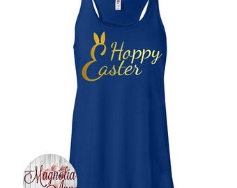 Happy Easter Women's Super Soft Flowy Racerback Tank Top