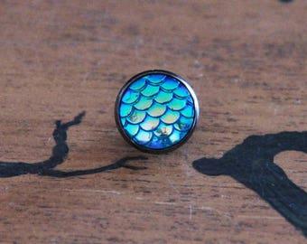12 mm (choice of color) Mermaid pin badges