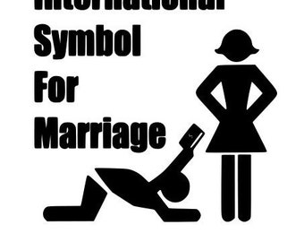International Symbol for Marriage Decal