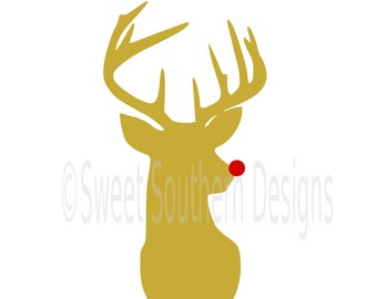 Reindeer deer rudolph Christmas SVG instant download design for cricut or silhouette