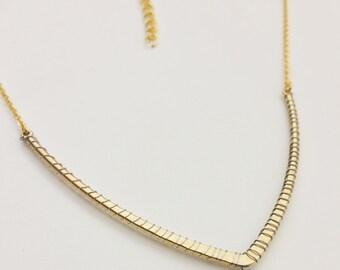 Wire Wrapped Gold & Silver Blue Lapas Teardrop Necklace