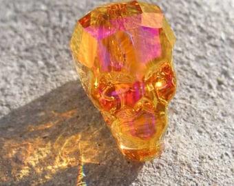 Swarovski-5750-skull bead-crystal Astral Pink (001 API)-13mm