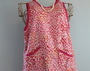 Custom, child's wrap around reversible apron