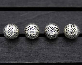 8mm 10mm Sterling Silver Beads,Sterling Silver spacer bead,Hollow beads