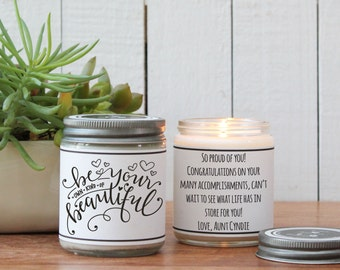 Be Your Own Kind Of Beautiful Candle - Inspiration Gift | Friend Gift | Thinking of You Gift | Graduation Gift | Congratulations Gift